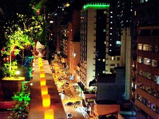 Copacabana apartment photo - View from Terrace at Night