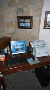 Work station: Computer/printer/fax/card reader. Free supply of CD's/DVD's/paper