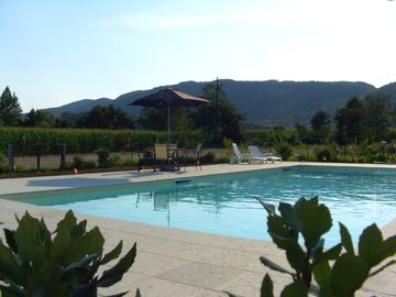 Longare farmhouse rental - The new 13.5x6 metre pool with jacuzzi jets