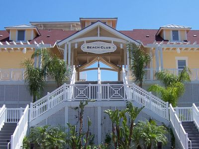 Galveston condo rental - Lounge on the deck of the beach club and enjoy the pools and views.