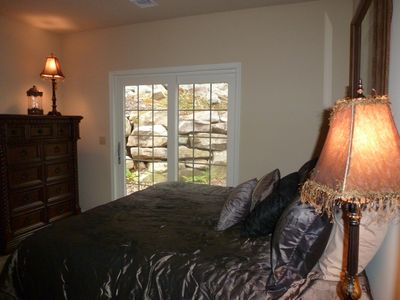 Lower Level Bedroom King with Walk Out Terrace.