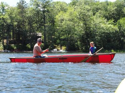 One canoe and two kayaks are included with your rental at Eagles' Nest Lookout!