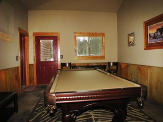 West Yellowstone house photo - Main floor pool room with really sweet pool table! Access from here to Apartment