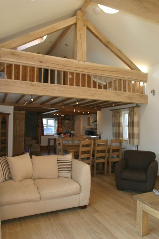 Luxury converted barn in the heart of homeaway bryngwran - Open mezzanine ...