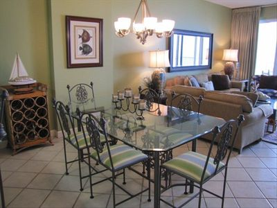 Dining area- beautiful and spacious open area between kitchen and living area.