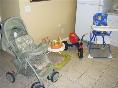 Use of child items including High chair, Pack-N- Play, Walker, stroller, bike