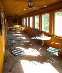 Branson cabin photo - Everyone's favorite place in the morning, the huge screened in porch.
