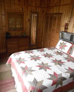 Spruce Pine house rental - Upstairs Master with Fantastic Mountain View