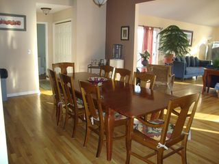 Bushkill house photo - Dining room leading to great room and kitchen.