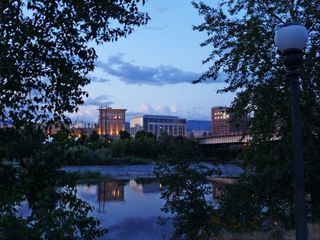 Missoula condo photo - Sunset over river and Wilma