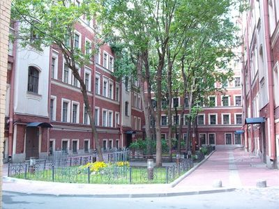 St Petersburg apartment rental - Courtyard and Entry to Apartment, Stunning at Night! Safe Area for entry!