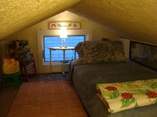 Biddeford cottage photo - Bedroom loft is fun for one or two kids or comfortable for one adult.