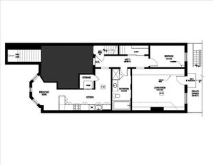 Boston apartment photo - standard floor plan.
