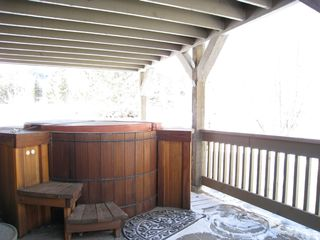 The Canyons condo photo - Authentic Redwood Hot Tub,deck off Master suite, view of mtns.