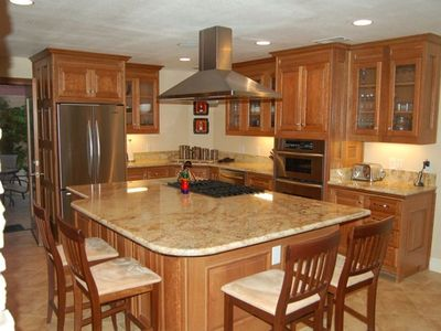 Gourmet Kitchen with top of the line appliances.