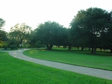 part of the beautiful, long driveway