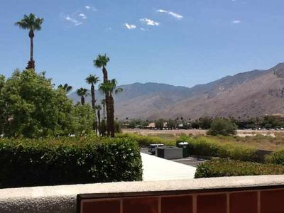 Palm Springs condo rental - view FROM PATIO