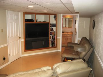 Den with 55' HD TV