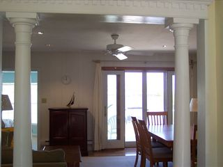 Stone Harbor property rental photo - Entrance Lobby - Large Living/Dining rm - Open to Dinning Deck