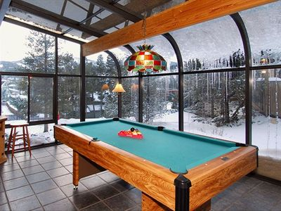 Pool table & Mountain views - Main Level   Breckenridge rental cabin