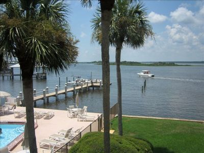 Crescent Beach townhome rental - Intracoastal view from master bedroom balcony