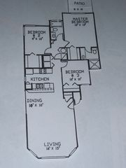 Floor Plan of Villa--1230 square feet of living space - Royal Palm Bay villa vacation rental photo