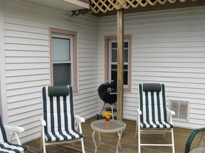 Brigantine house rental - Lower outside porch