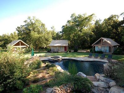 Waterfall & Pool Area Adjacent to 3 Cabins