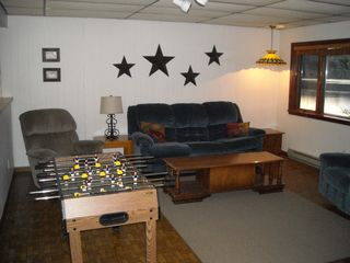 Leroy house photo - Lower Level Living Room and Game Room
