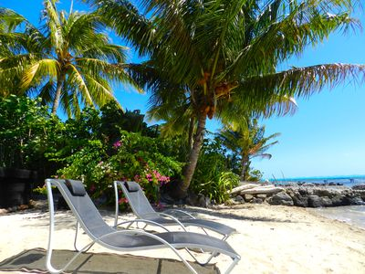 image for A villa for 8 persons, by the beach of the Moorea Lagoon