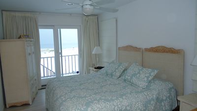 Westhampton Beach house rental - Bedroom #2 King Bed Balcony Overlooking Ocean