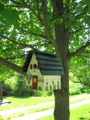 Gettysburg farmhouse photo - Birdhouse under Red Maple