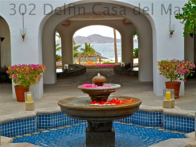 Internal Courtyard of Casa del Mar's Boutique Hotel