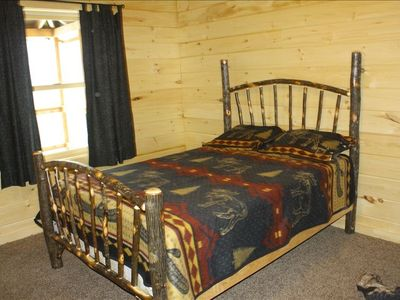 Hickory double bed