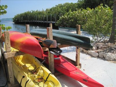 Enjoy the use of 4 kayaks during your stay - 1 is a kayak for 2.  Have fun.