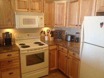 Kitchen with full appliances and everything you need for a home cooked meal!