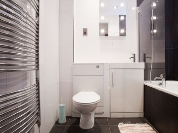 Flat 2 - Main bathroom with heated towels rail
