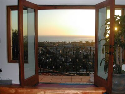 Master bedroom view. overlooks the ocean and the beautiful village of La Jolla