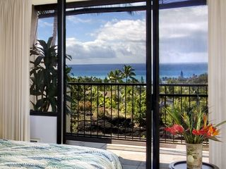Keauhou condo photo - Master bedroom lanai and ocean view