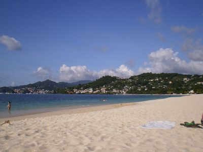 A view of St. George's from Grand Anse Beach