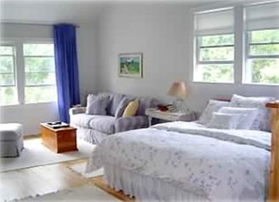 Spacious Master Bedroom with Sitting Alcove and Cathedral Ceilings.  Rent Now.