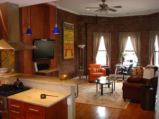 Boston condo photo - Living room overlooking Commonwealth Mall