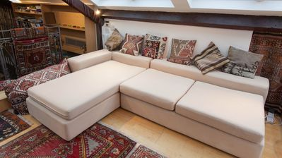 Sofa on upper floor which can be used as bed (sleeps 1)