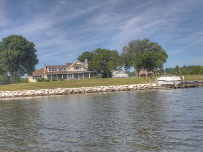 5BR Patuxent River Timberframe Farmhouse with Pool, Beach, Dock