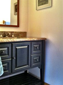 Bathroom detail — marble vanity