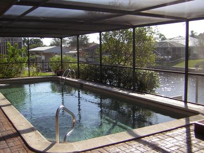 Heated Pool with covered lanai.