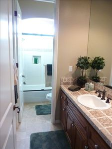 Guest room bathroom.