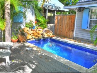 Key West cottage photo - Shared pool with waterfall feature!