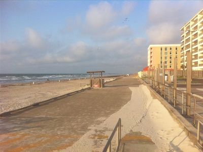 Seawall approximately 1 mile from the townhome. Great for sunrise walks.