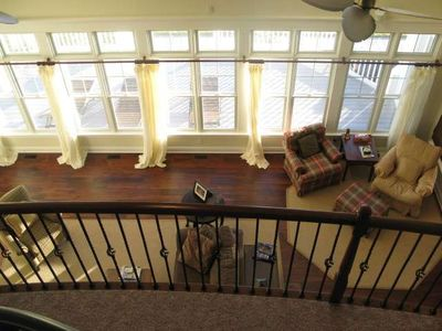 Brigantine house rental - View of 1st floor from Loft